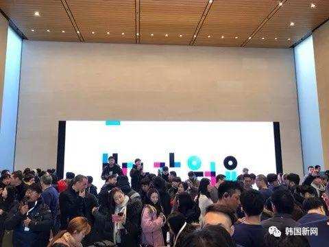 韩国终于有了第一家苹果零售店 果粉排队19小时