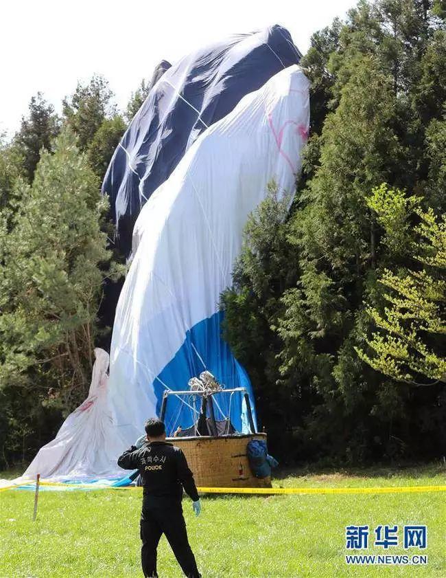 韩国济州热气球坠落1死12伤