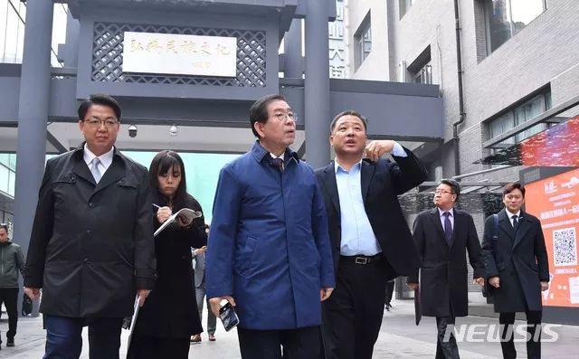 首尔市长朴元淳在北大演讲 走访中关村创业大街
