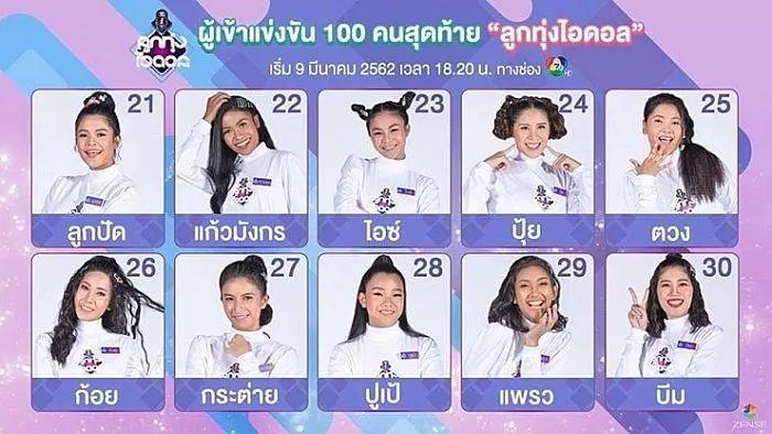 泰国版《创造101》女练习生全曝光