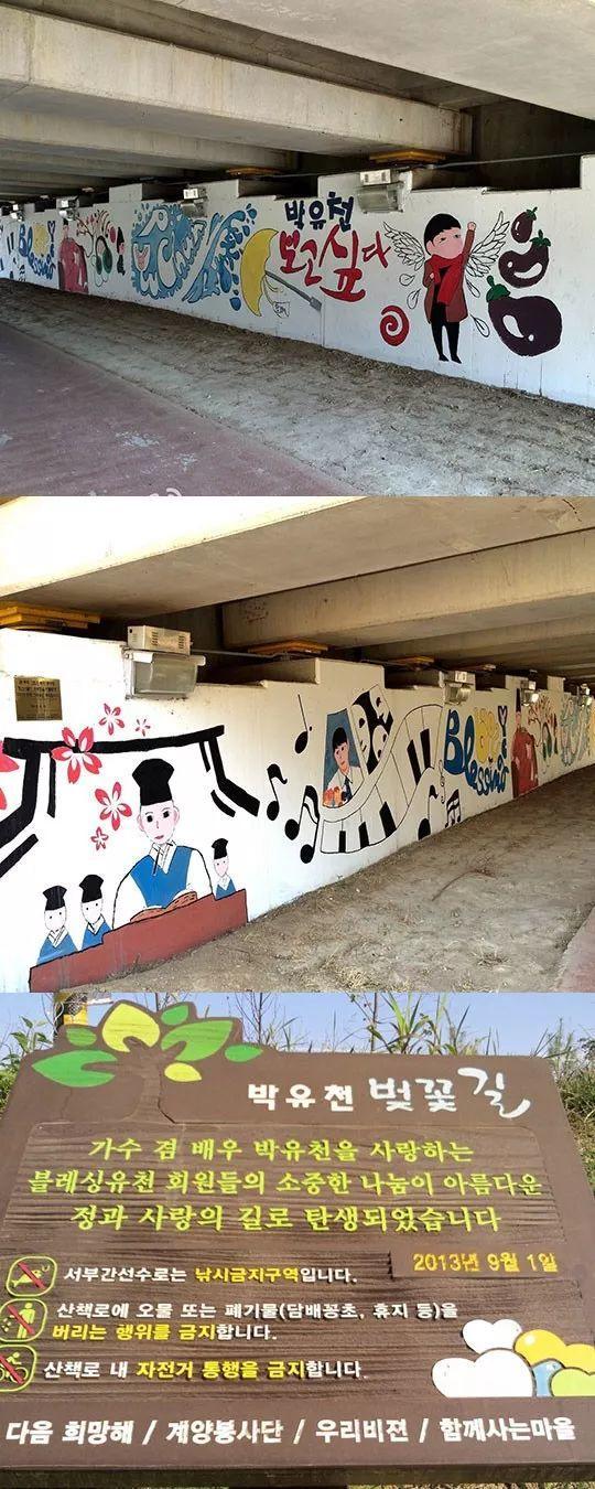 朴有天主题壁画已被拆除 曾由粉丝集资3万多建成